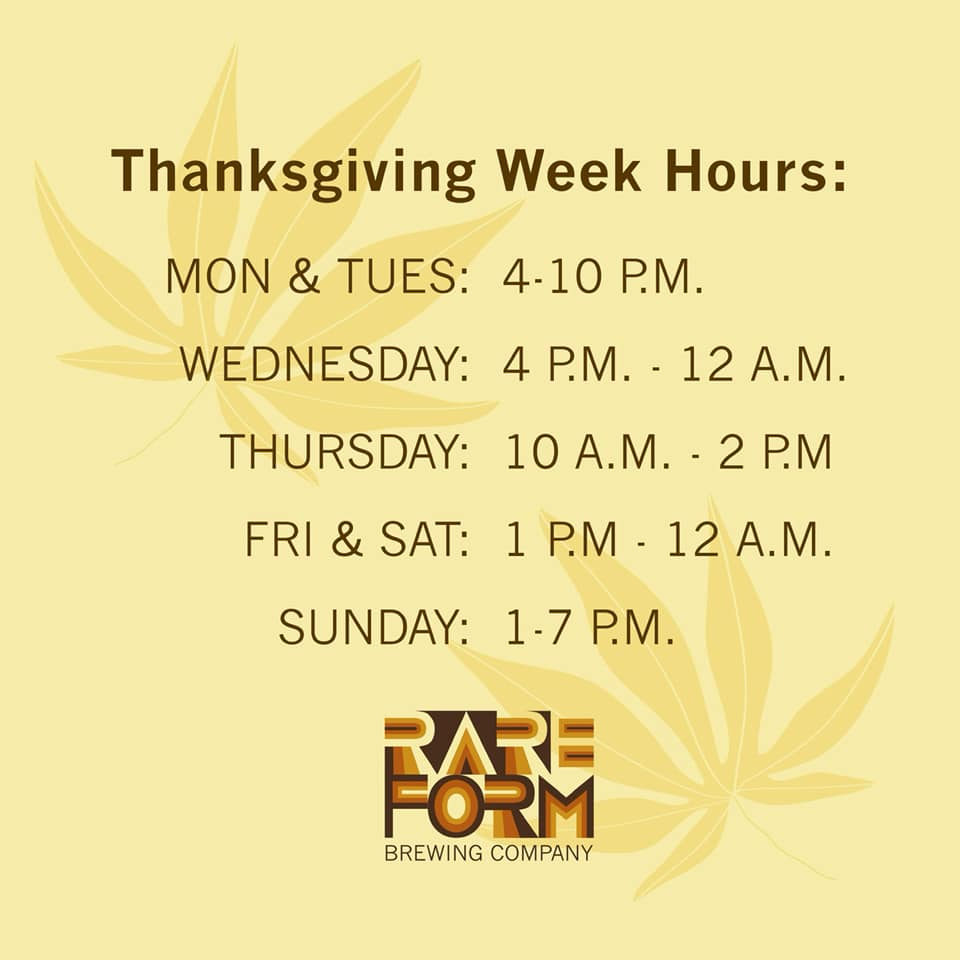 Thanksgiving week hours🦃🍁 …